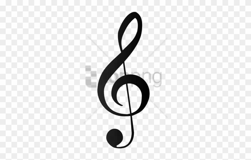 Clef note clipart clipart black and white Free Png Music Note Silhouette Png Png Image With Transparent ... clipart black and white