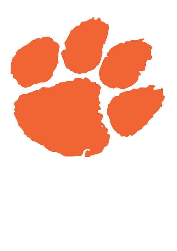Clemson logo clipart vector black and white stock Clemson tiger paw clipart » Clipart Station vector black and white stock
