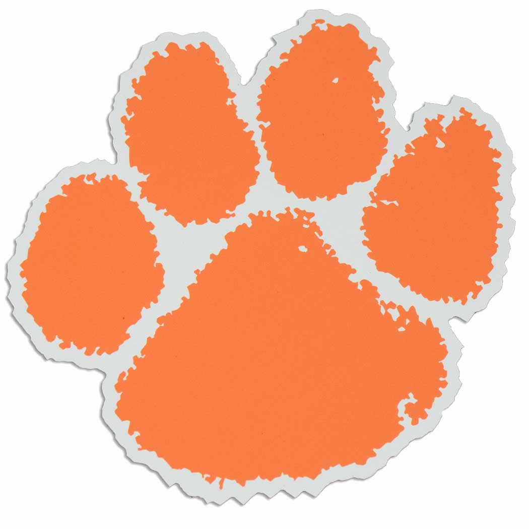 Clemson logo clipart graphic black and white stock Tiger Paw Clipart Lovely Clemson Tigers Logos 2019 | Geese.cc graphic black and white stock