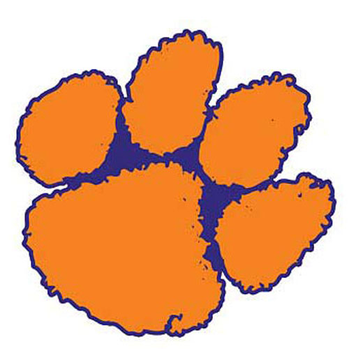 Clemson paw clipart png black and white Collection of Clemson clipart | Free download best Clemson clipart ... png black and white