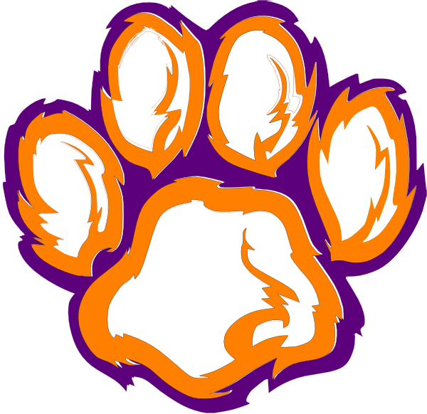 Clemson clipart image freeuse library Free Clemson Tiger Paw Stencil, Download Free Clip Art, Free Clip ... image freeuse library