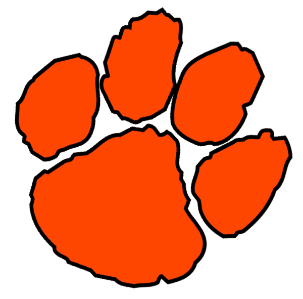 Clemson logo clipart graphic royalty free download Clemson Paw Print Vector | Large | Printables, Templates, & More ... graphic royalty free download