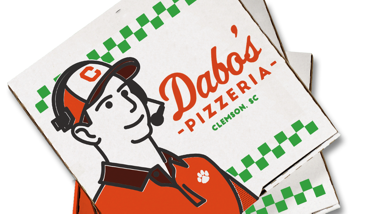 Clemson football clipart banner transparent stock Can Clemson deliver on Dabo Swinney's pizza promise? banner transparent stock
