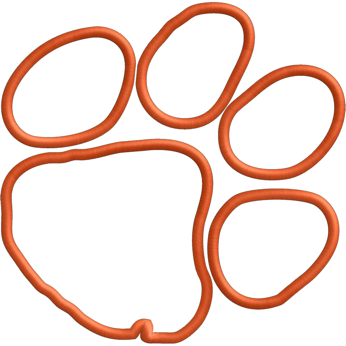 Clemson logo clipart graphic freeuse library Clemson Logo Paw Vector Tiger Embroidery Or clipart free image graphic freeuse library