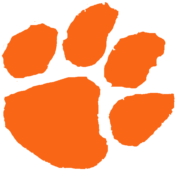Clemson paw clipart picture Tiger Paw Outline | Free download best Tiger Paw Outline on ... picture
