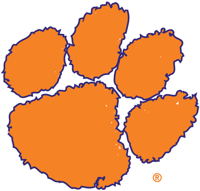 Clemson paw clipart clip black and white Clemson tigers logo paw clipart | Cupcake | Clemson tigers, Clemson ... clip black and white