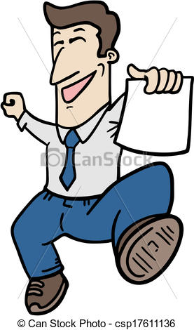 Clerk clipart picture free library Vectors of Happy clerk - Creative design of happy clerk ... picture free library