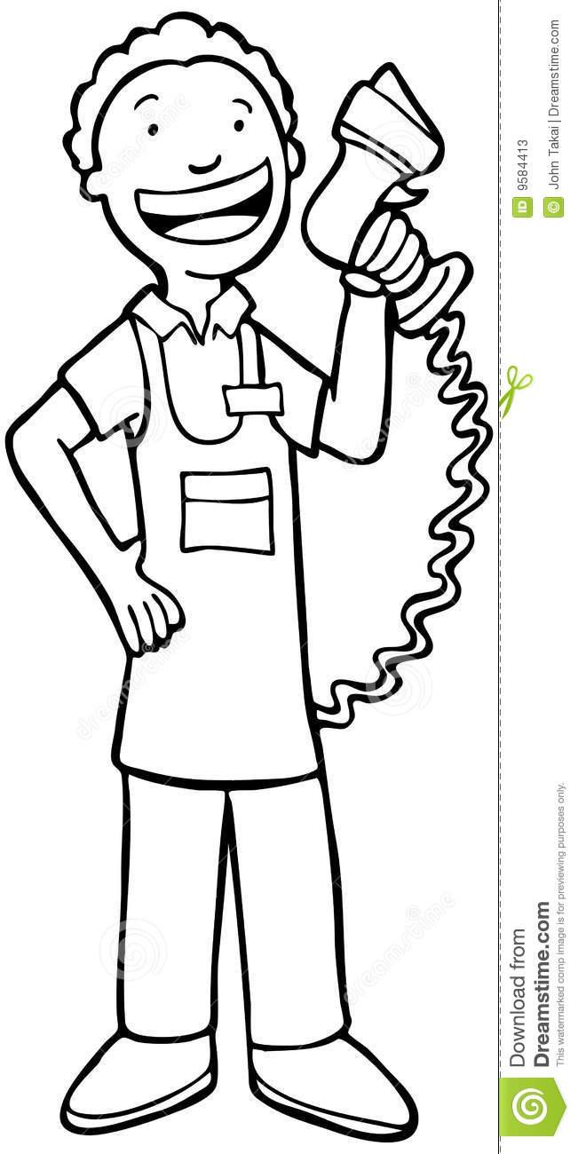 Clerk clipart black and white jpg free Cashier Black And White Clipart - Clipart Kid jpg free