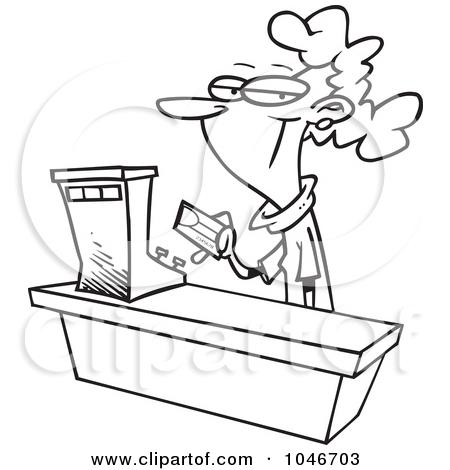 Clerk clipart black and white jpg royalty free stock Royalty-Free (RF) Clerk Clipart, Illustrations, Vector Graphics #1 jpg royalty free stock