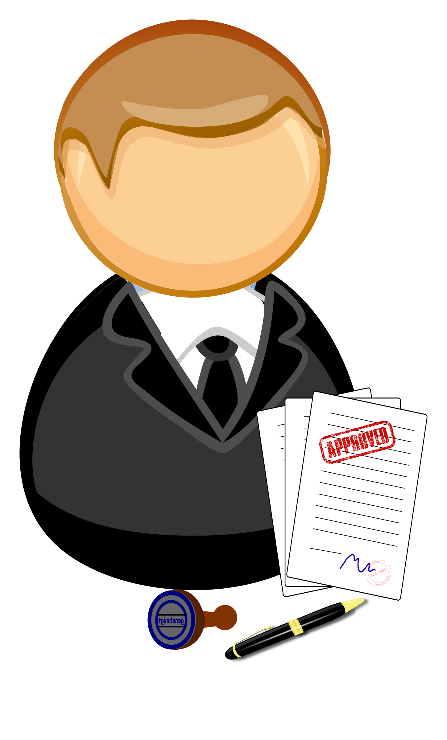 Clerk clipart png library download Clipart - Officer / clerk png library download