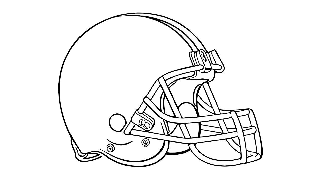 Cleveland browns helmet black and white clipart free stock Como desenhar o escudo do Cleveland Browns (NFL) - How to Draw the  Cleveland Browns Logo (NFL) free stock