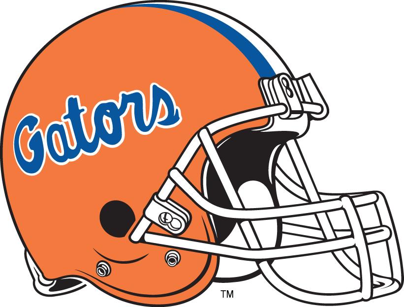 Cleveland browns helmet black and white clipart clip transparent Florida Gators Helmet Logo (1984) - Blue Gators script on orange ... clip transparent
