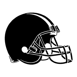 Cleveland browns helmet black and white clipart graphic royalty free library Football Helmet Stencil Group with 58+ items graphic royalty free library