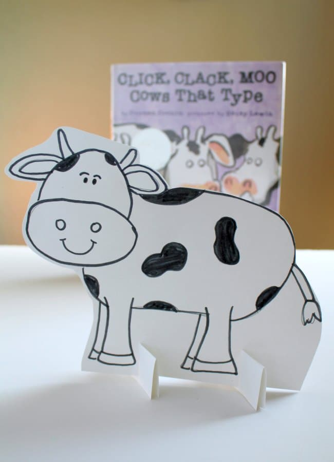 Click clack moo cows that type clipart jpg black and white download Click Clack Moo Activity with Shapes - The Educators\' Spin On It jpg black and white download