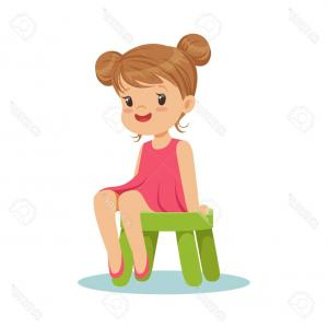 Clid pushing in chair to table clipart graphic transparent library Girl Pushing Skateboard With Two Boys Sitting On It Vector Clipart ... graphic transparent library