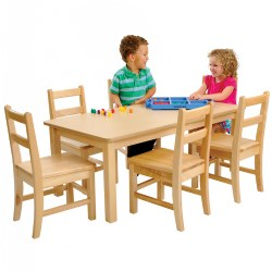 Clid pushing in chair to table clipart clipart royalty free Preschool Furniture, Chairs, Mats, and Tables: Kaplan clipart royalty free