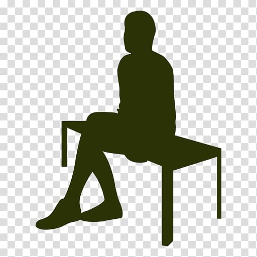 Clid pushing in chair to table clipart png transparent library Sitting Silhouette Table Drawing , business man sitting on a chair ... png transparent library