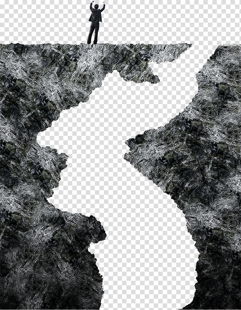 Cliff clipart black and white simple clipart royalty free Business man standing on a cliff transparent background PNG clipart ... clipart royalty free
