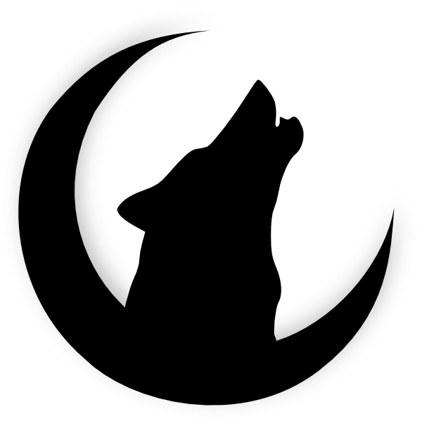 Clifford and pumpkin clipart black and white black and white Howling+Wolf+Head+Drawing | Wolf Howling With Moon clip art | My ... black and white