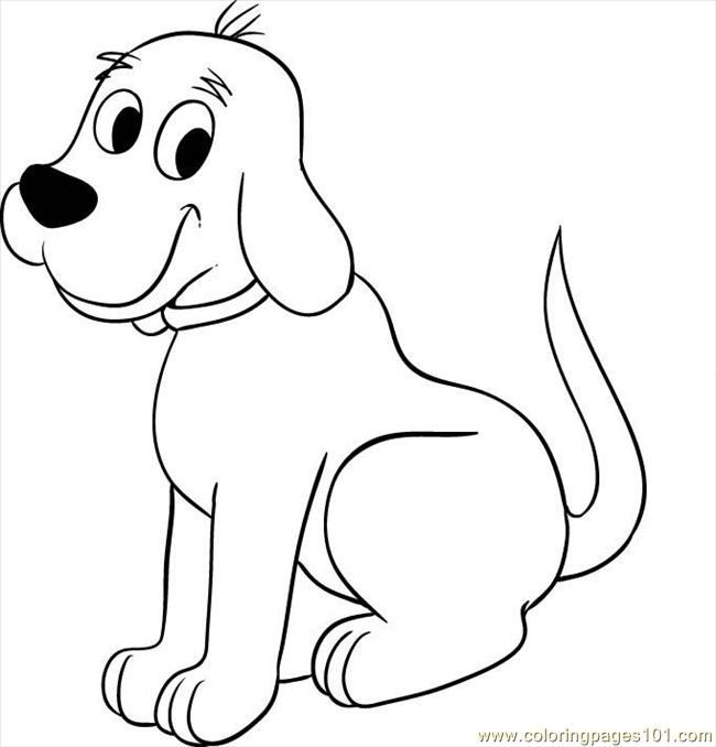 Clifford the dog clipart vector transparent stock Free clipart of clifford the big red dog character coloring pages ... vector transparent stock