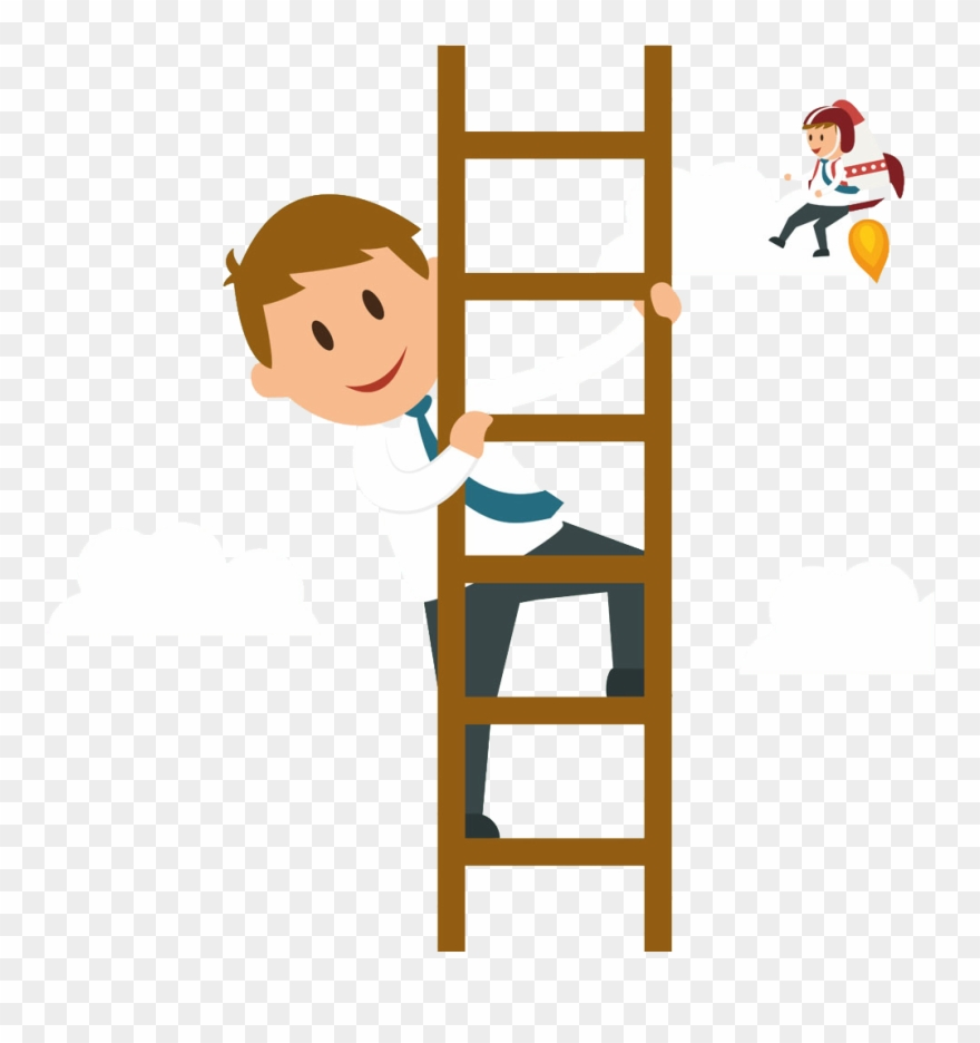 Free to us clipart man climbing ladder graphic royalty free stock Svg Climbing A Ladder Clipart - Climb Cartoon - Png Download ... graphic royalty free stock