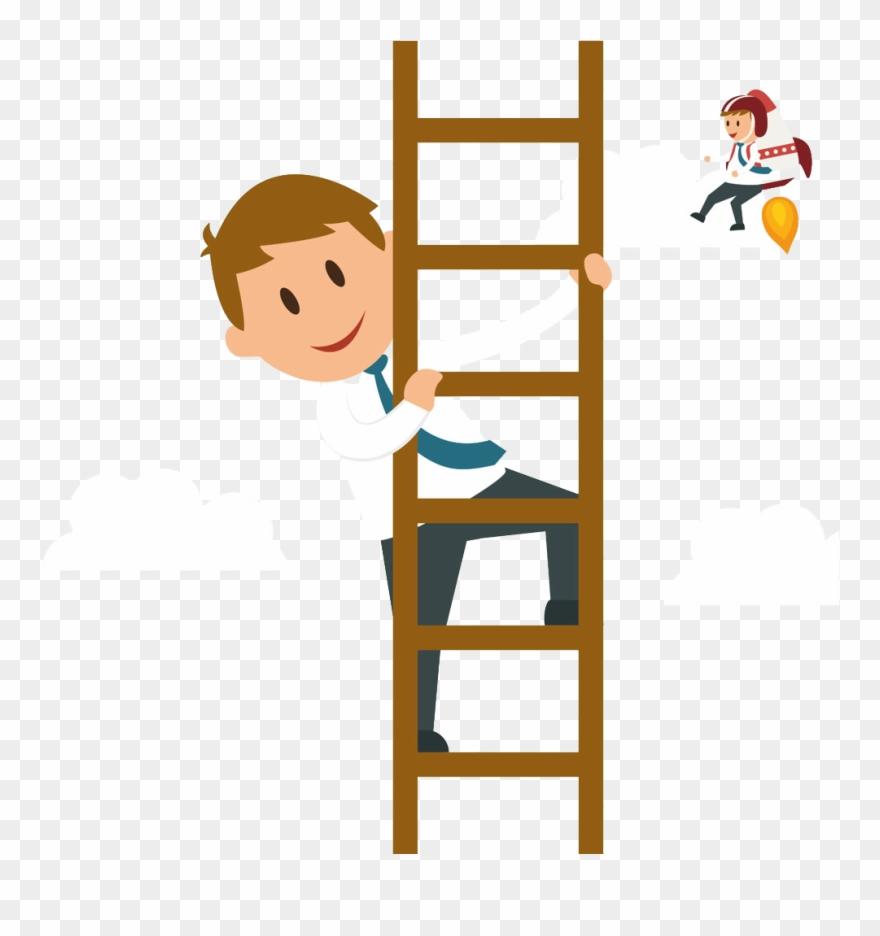 Climb ladder clipart graphic black and white stock Svg Climbing A Ladder Clipart - Climb Cartoon - Png Download ... graphic black and white stock