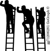Climb ladder clipart clipart library download Climbing The Ladder Clip Art - Royalty Free - GoGraph clipart library download