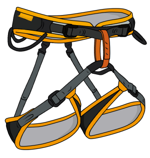 Climbing harness clipart image free Sport Climbing Gear - What Do You Need To Sport Climb? - VDiff image free