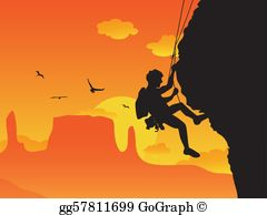 Climbing images clipart jpg black and white Climbing Clip Art - Royalty Free - GoGraph jpg black and white