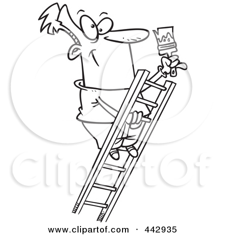 Climbing logo clipart black and white clipart free stock Royalty-Free (RF) Clip Art Illustration of a Cartoon Black And ... clipart free stock