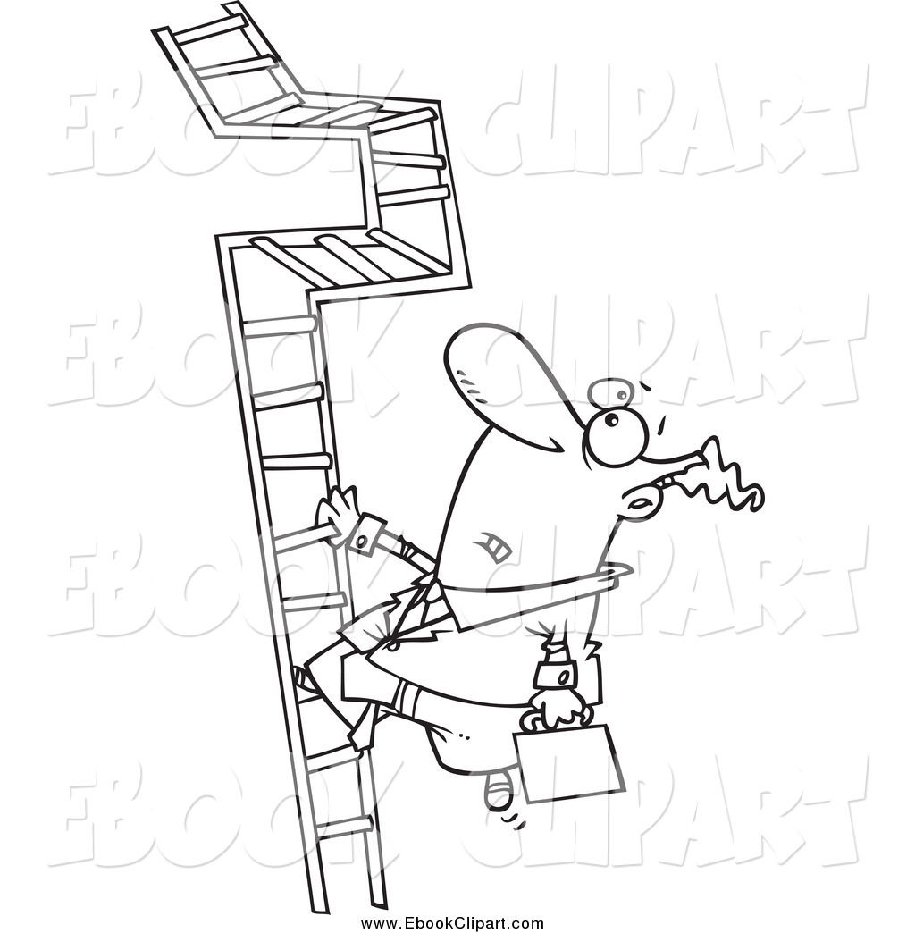 Climbing logo clipart black and white graphic transparent library Vector Clip Art of a Black and White Businessman Climbing a ... graphic transparent library