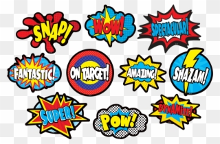 Clingy clipart picture transparent download Clingy Thingies Superhero Sayings Accents - Super Hero Sayings ... picture transparent download