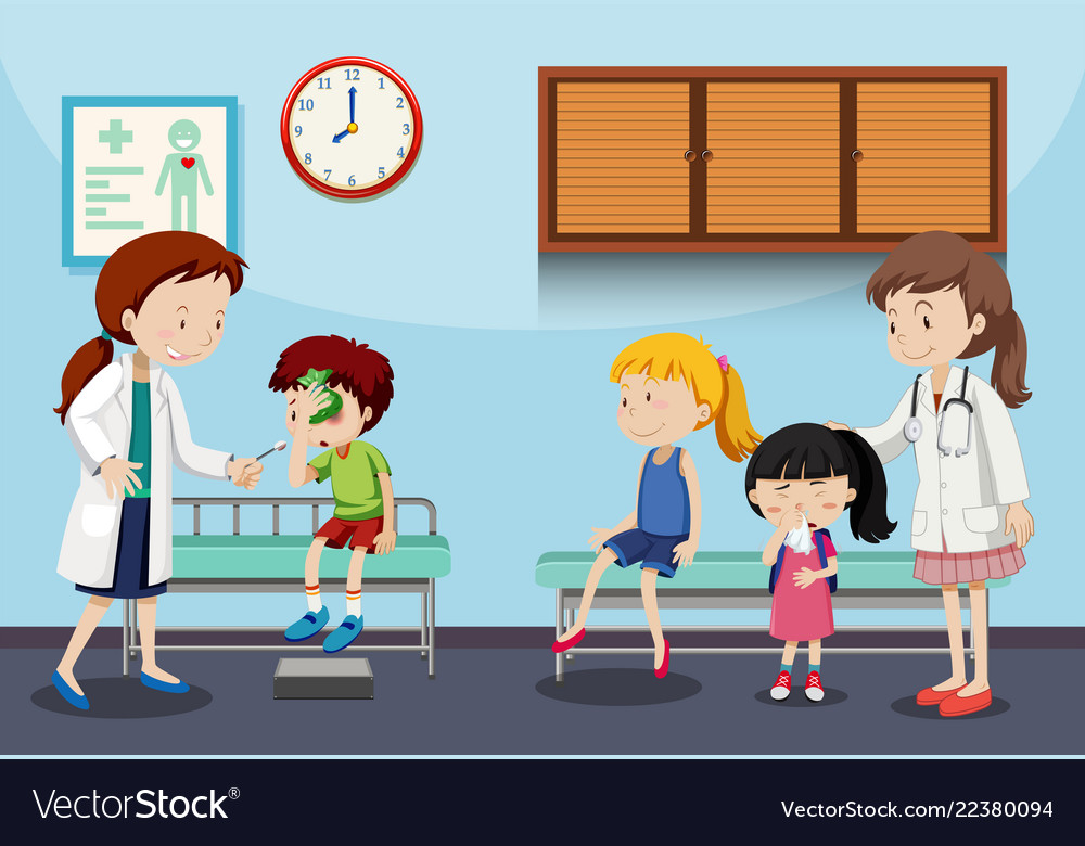 Clinic pictures clipart clip art free library Children and doctors in clinic clip art free library