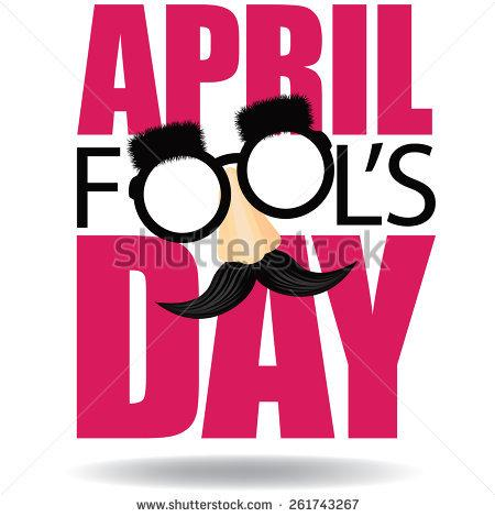 Clip art april fools day. Stock images royalty free