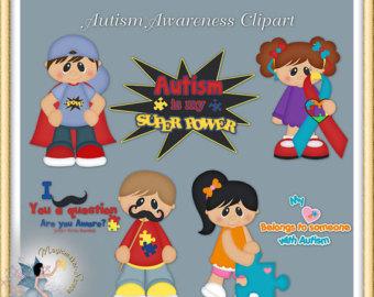 Clip art autism png free download Autism clip art | Etsy png free download