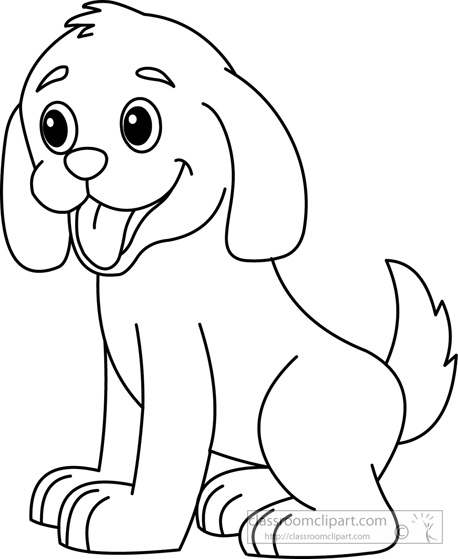 Clip art black and white svg freeuse library Dog Black And White Clipart - Clipart Kid svg freeuse library