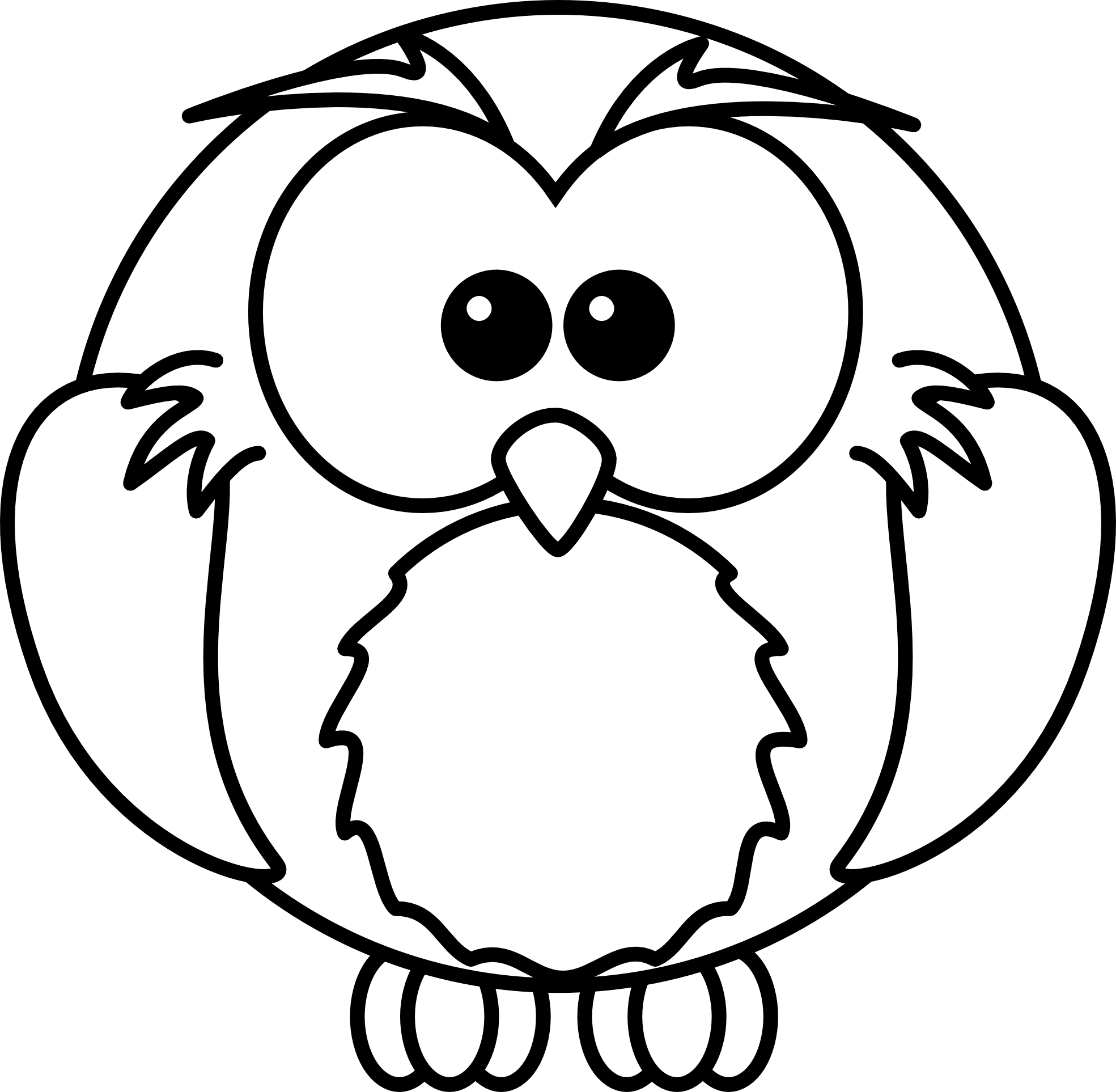 Owl turkey clipart vector freeuse download Lion Clip Art Black And White | Clipart Panda - Free Clipart Images vector freeuse download