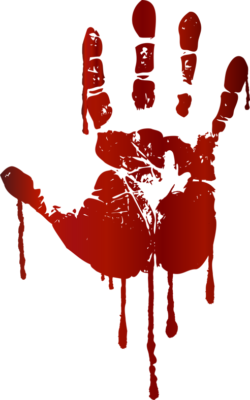 Clip art blood picture free Bloody Handprint Clipart picture free