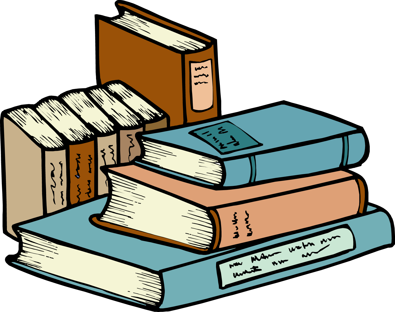 Book pile clipart png royalty free stock Stack Of Books Clipart | Clipart Panda - Free Clipart Images png royalty free stock