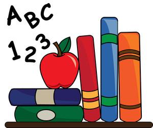 Clip art books for teachers clipart black and white stock Teacher Apple Clipart | Clipart Panda - Free Clipart Images clipart black and white stock
