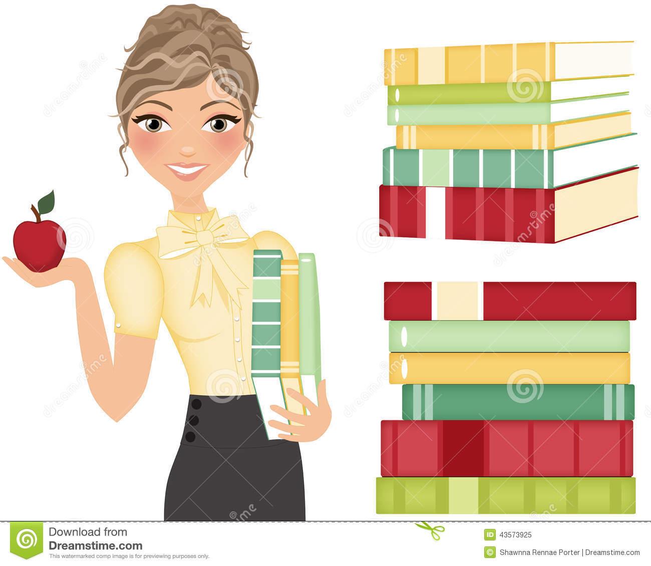Clip art books for teachers jpg freeuse library Teacher books and apple clipart - ClipartFest jpg freeuse library