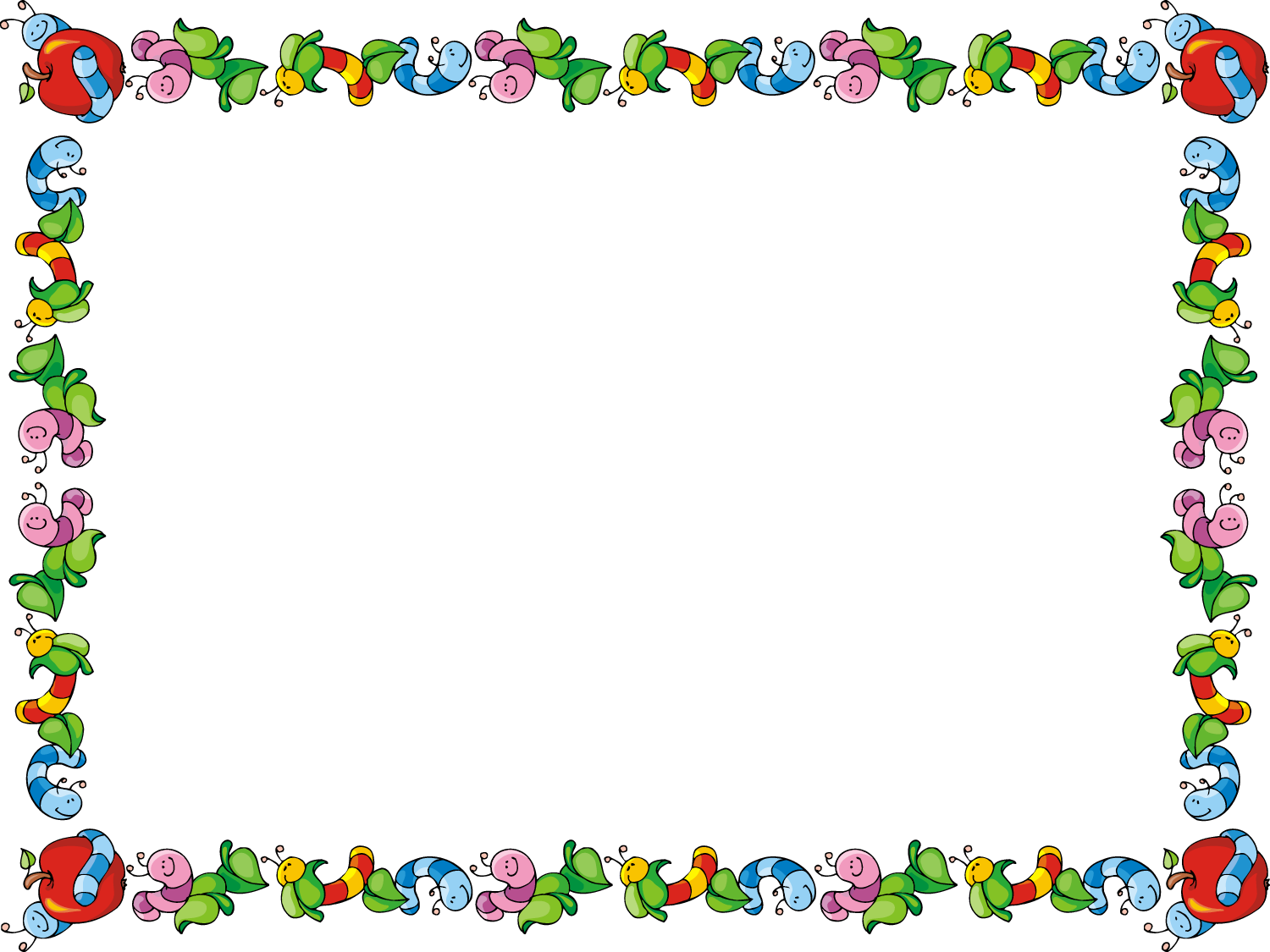 Clip art borders for teachers image Apple Borders And Frames Clipart - Clipart Kid image