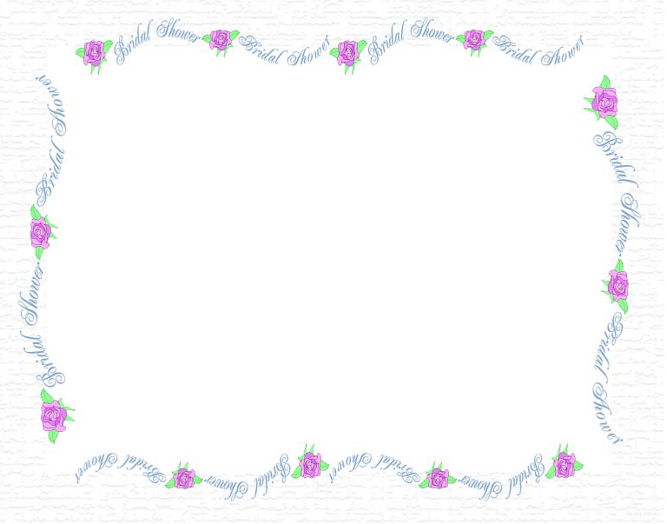 Clip art bridal shower clip black and white stock Wedding Shower Borders Free Clipart clip black and white stock