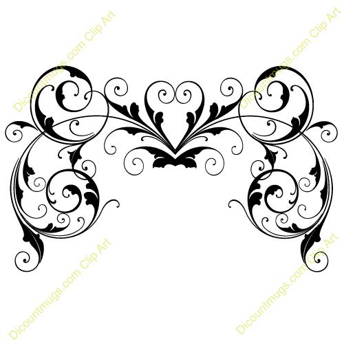 Clip art bridal shower. Free clipart clipartfox swirls