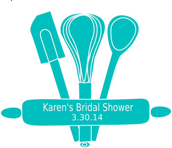 Clip art bridal shower banner Kitchen-themed Bridal Shower Clip Art at Clker.com - vector clip art ... banner
