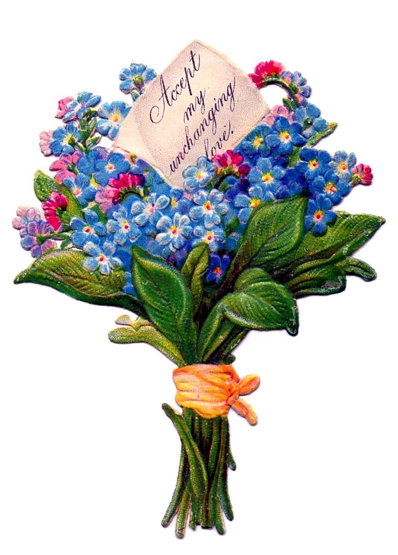 Free clipart clipartfest vintage. Clip art bunch of flowers
