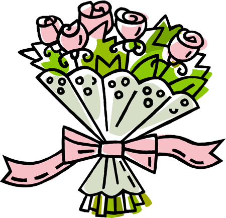 Clip art bunch of flowers. Clipart bouquet clipartfest roses