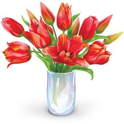Vase flower bouquet clipart. Clip art bunch of flowers