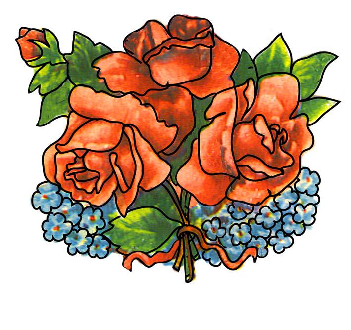 Clip art bunch of flowers. Clipart roses clipartfox redrosesandforgetme