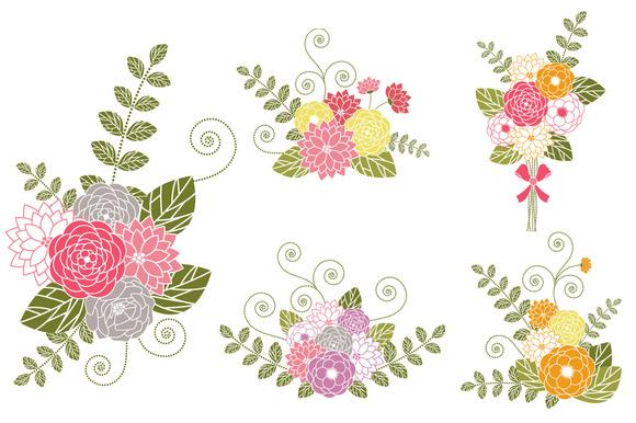 Flower clipartfest bouquet clipart. Clip art bunch of flowers